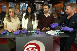 CP24 breakfast team learns about sensory loss​ from Home Instead Senior Care